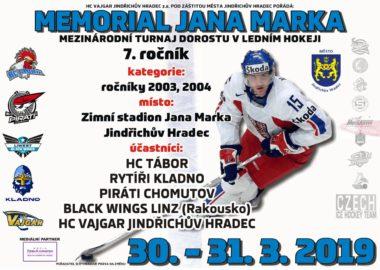 Memoriál Jana Marka již tento víkend!